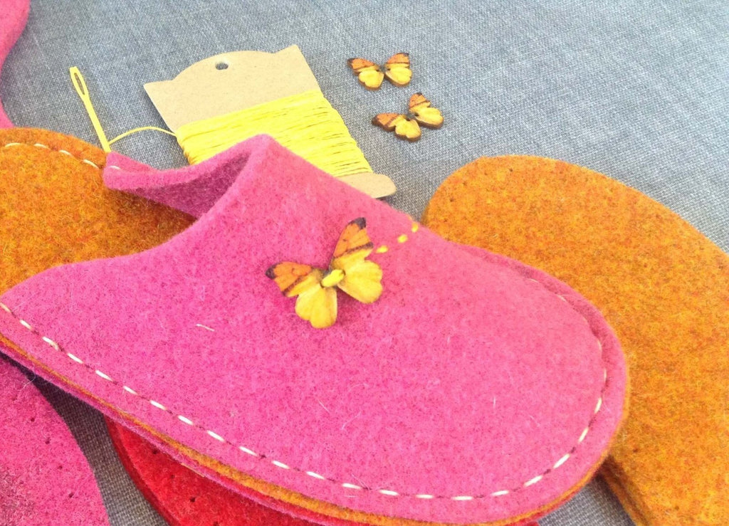 Children's Felt Slippers with Vibram Sole