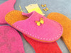U.S. sizes Complete Felt Slipper Kit - Butterfly  Button - Joe's Toes  - 2