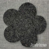 Joe's Toes big felt flower patch charcoal gray