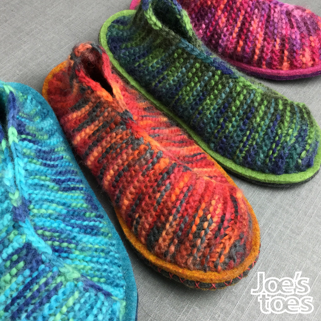 Crossover DIY Knitted Slippers - Women's Sizes
