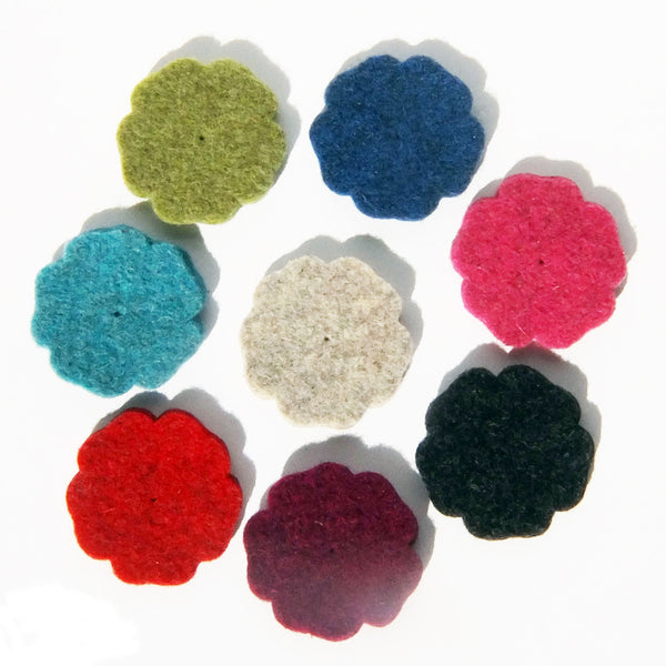 Thick Wool Felt flower - 50mm (large) - Joe's Toes  - 1