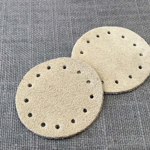 Joe's Toes Round Patches  in Suede Leather in Two Colors