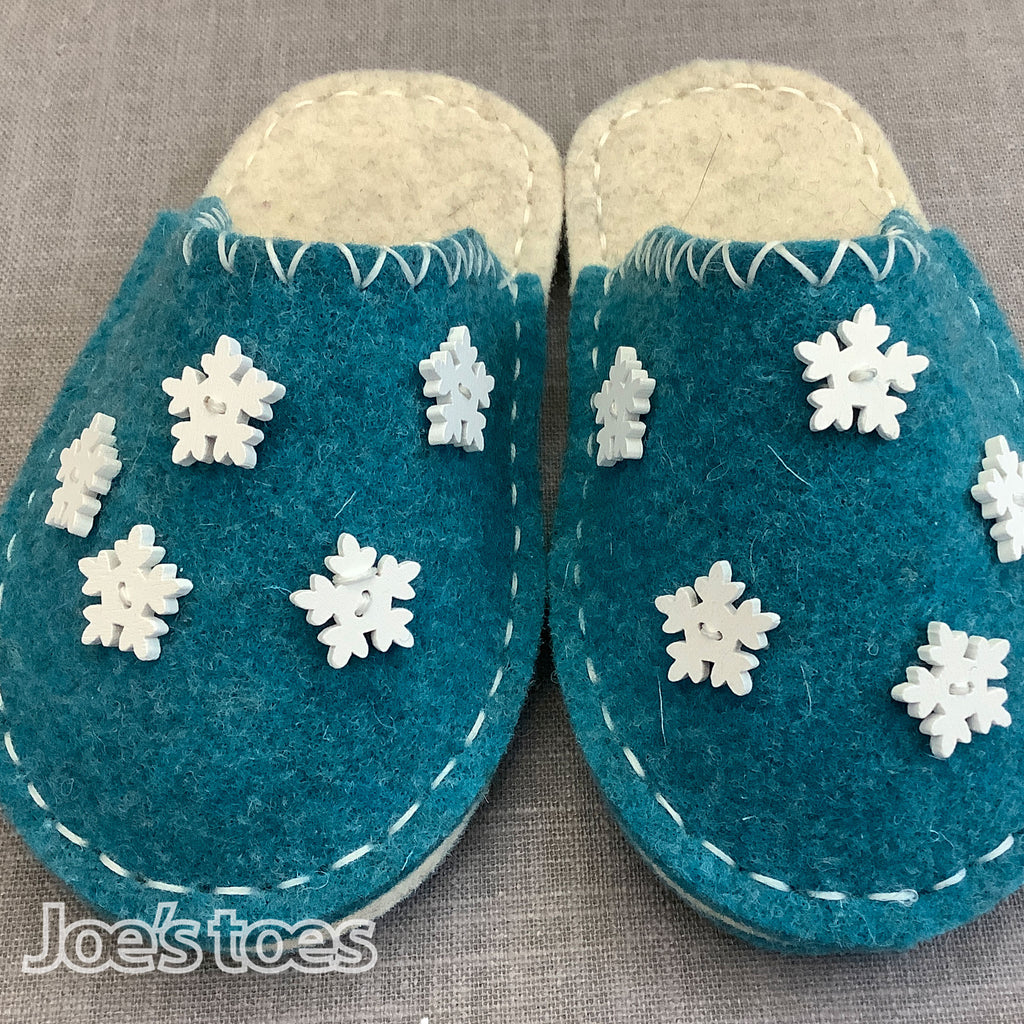 DIY Snowflake Slippers for Toddlers & Children