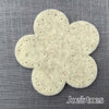 Joe's Toes big felt flower patch natural ecru