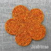 Joe's Toes big felt flower patch marmalade orange