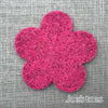 Joe's Toes big felt flower patch fuchsia pink