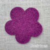 Joe's Toes big felt flower patch purple