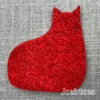 Joe's Toes wool felt cat in red
