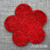 Joe's Toes big felt flower patch red