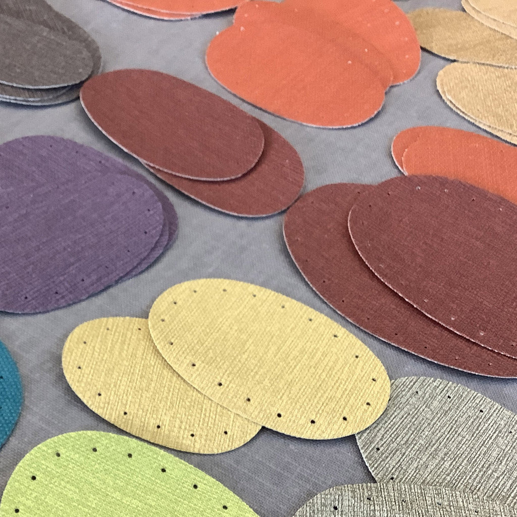 Joe's Toes linen-look vinyl patches - available in three sizes