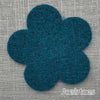 Joe's Toes big felt flower patch teal