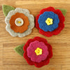 Smaller and larger flowers with petal to make felt flower