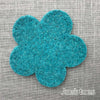 Joe's Toes big felt flower patch turquoise