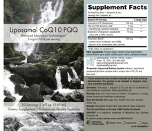 Liposomal CoQ10 with PQQ