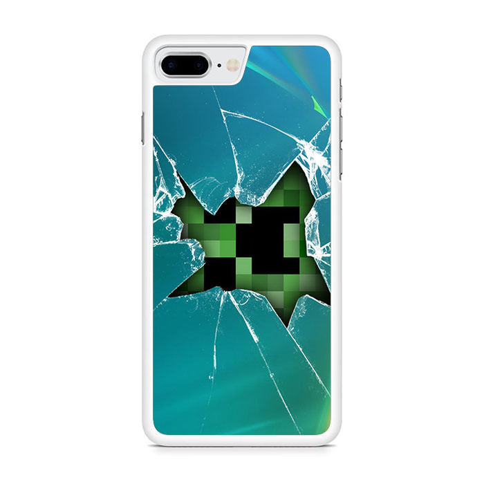 Minecraft Creeper Broken Glasses For Iphone 8 Plus Maydistore
