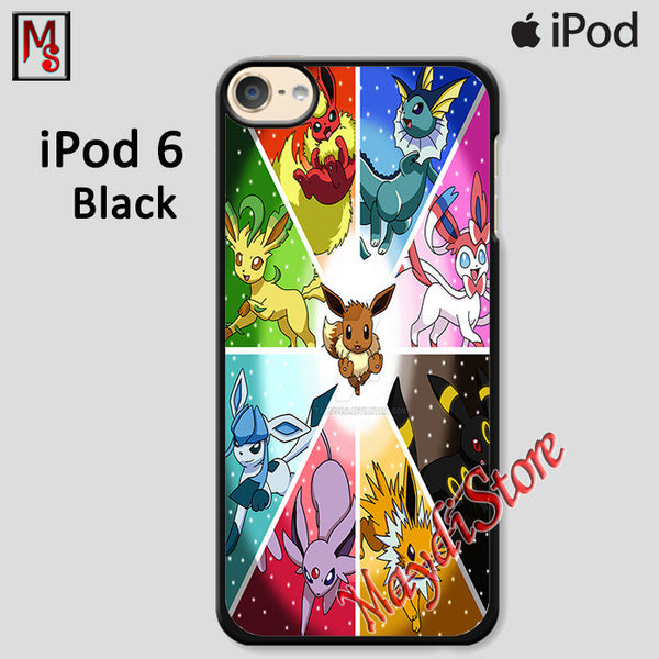 Eevee Evolution Pokemon Go For Ipod Touch 6 Case