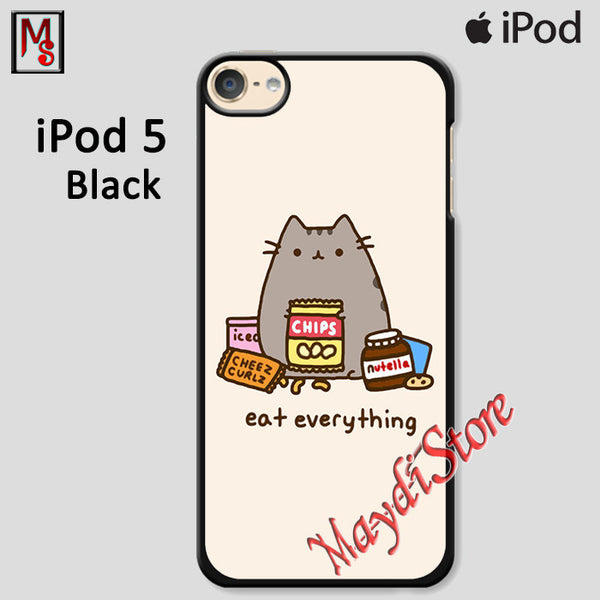 Pusheen The Cat Eat Every Thing For Ipod Touch 5 Case