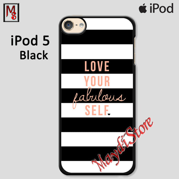 Kate Spade Love Your Fabulous Self For Ipod Touch 5 Case