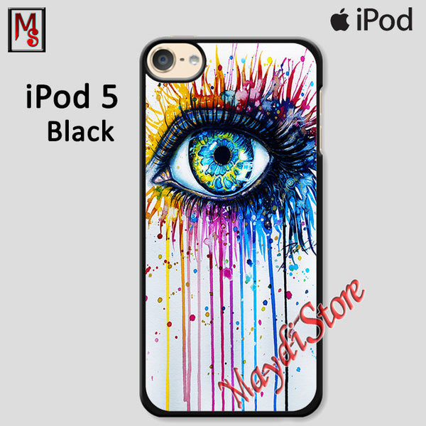 Big Eye Watercolor For Ipod Touch 5 Case