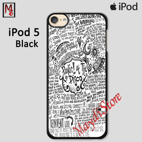 Panic At The Disco Lyric Cover For Ipod Touch 5 Case