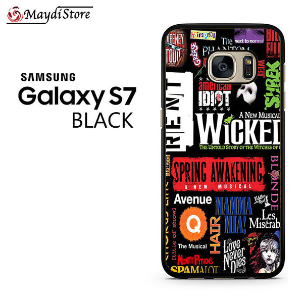 Broadway Musical Collage Art For Samsung Galaxy S7 Case