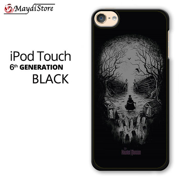 Disneyland Haunted Mansion Skull For Ipod Touch 6 Case