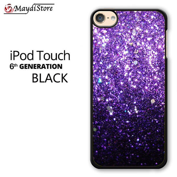 Purple Glitter For Ipod Touch 6 Case