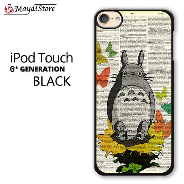 Totoro In The Garden Collage Studio Ghibli For Ipod Touch 6 Case