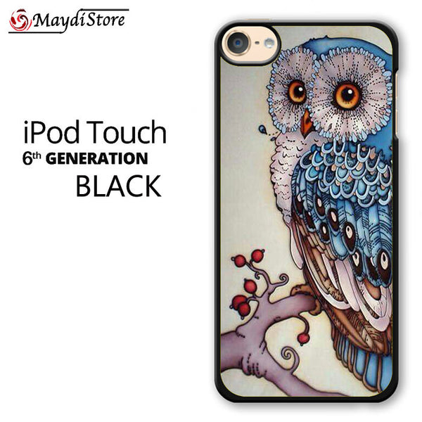 Owl Art For Ipod Touch 6 Case
