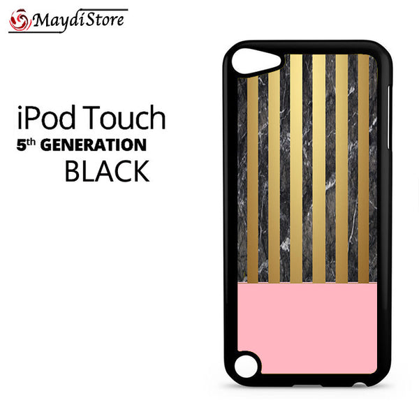 Pink Marble Gold For Ipod Touch 5 Case