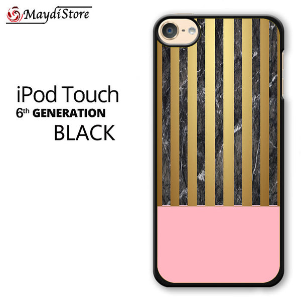 Pink Marble Gold For Ipod Touch 6 Case
