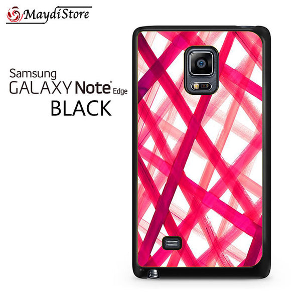 Pink Plaid For Samsung Galaxy Note Edge