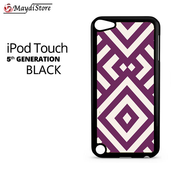 Purple And White For Ipod Touch 5 Case