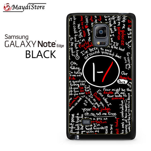 21 Pilots Poster Blurryface Lyric For Samsung Galaxy Note Edge