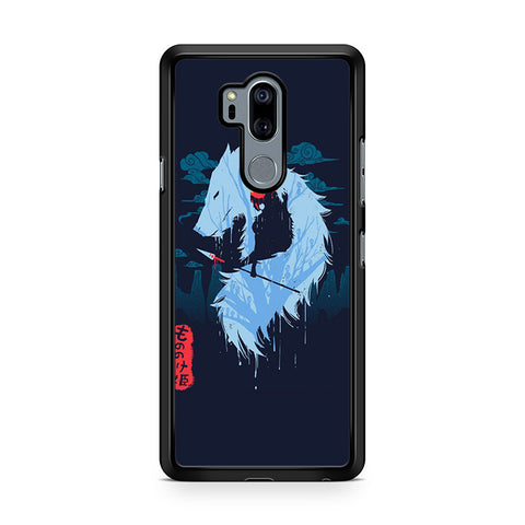 Princess Mononoke Silhouette Wolf For LG G7 Thinq
