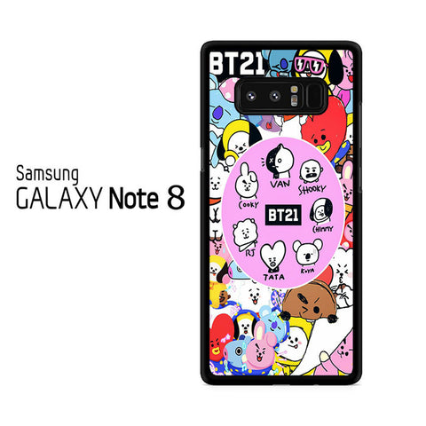 BTS BT21 Sticker Character For Samsung Galaxy Note 8 Case