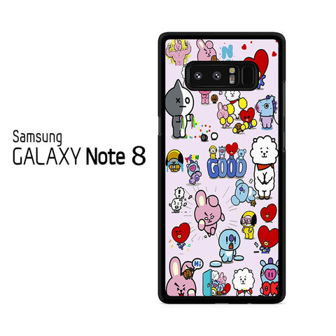 BTS Bt21 Doodle For Samsung Galaxy Note 8 Case