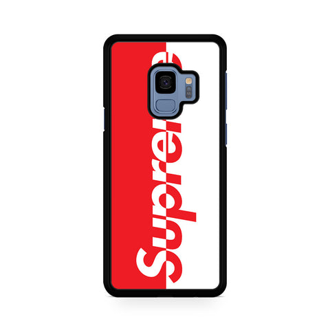 Supreme Logo Red And White For Samsung Galaxy S9 Case