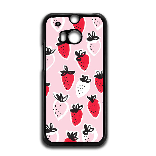 Strawberry Pattern For HTC ONE M8 Case