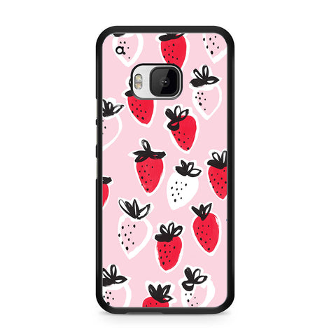 Strawberry Pattern For HTC ONE M9 Case
