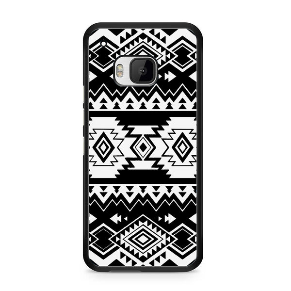Tribal Navajo Seamless Pattern Black And White For HTC ONE M9 Case