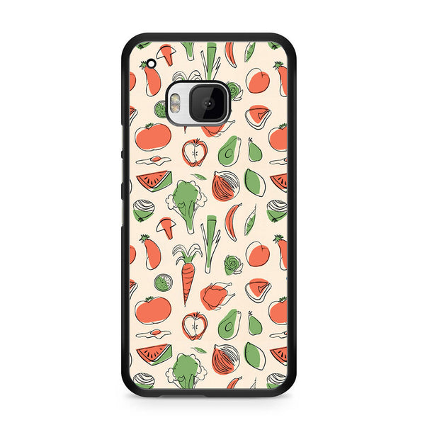 Vegetable Pattern For HTC ONE M9 Case