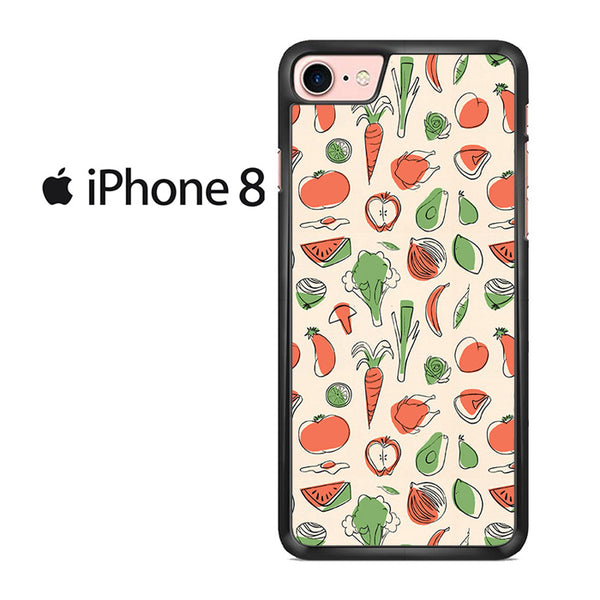 Vegetable Pattern For IPHONE 8 Case