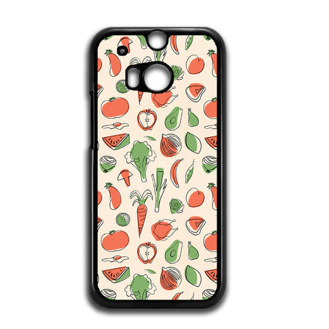 Vegetable Pattern For HTC ONE M8 Case