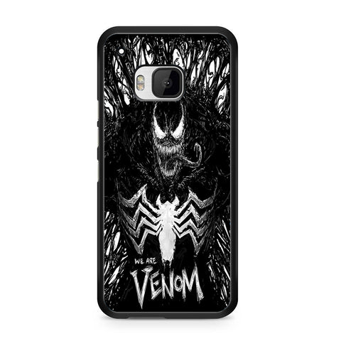 Venom Fan Art Black And White For HTC ONE M9 Case