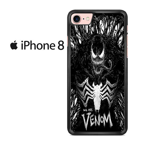 Venom Fan Art Black And White For IPHONE 8 Case