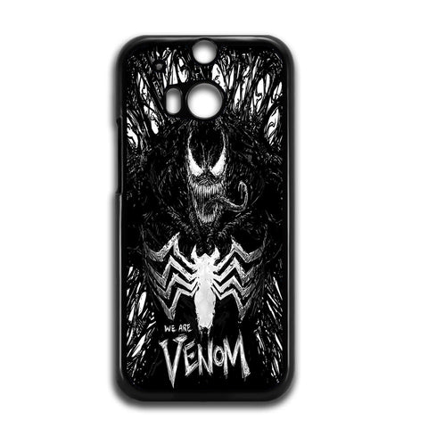 Venom Fan Art Black And White For HTC ONE M8 Case