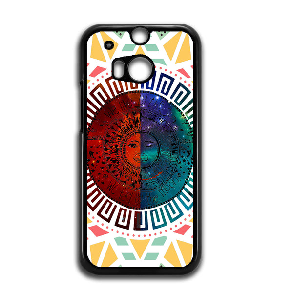 We Live By The Sun We Feel By The Moon Space For HTC ONE M8 Case