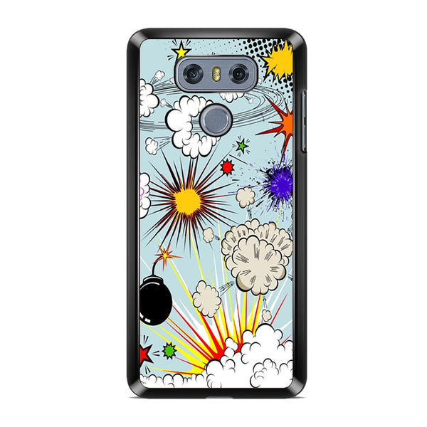 Boom Comic Effects Seamless Pattern For LG G6 Case