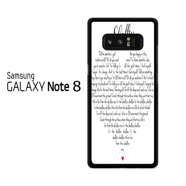 Lady Gaga And Bradley Cooper Shallow Lyric For Samsung Galaxy Note 8 Case